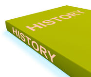 History Book Shows Books About The Past Royalty Free Stock Images