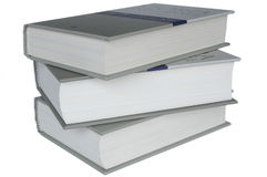 History books. Three books on a perfect white background Royalty Free Stock Images