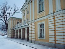 Sankt-Petersburg architecture history building palace winter snow park outdoor royalty free stock image
