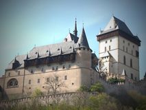 TRENCIN Castle - is one of the most visited castles in Slovakia stock photography