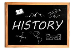 History Chalkboard Stock Photography