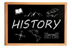 History Chalkboard Stock Photography