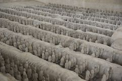 History China miniature terracotta army clay Shenz Royalty Free Stock Image