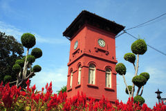 History Clock Tower In Melaka Stock Images