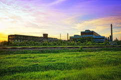 Steel mill in HDR Stock Photos