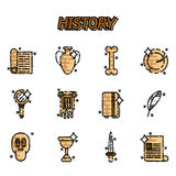 History and culture icons. Vector illustration, EPS 10 Stock Image