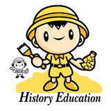 History Education and mascot. Education and life Character Desig Royalty Free Stock Image