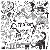 History education subject handwriting doodle icon  Stock Photography