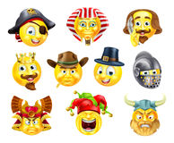 History Emoji Emoticon Set Stock Photo