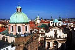 History of Europe. Prague, view overlooking the town Stock Photography