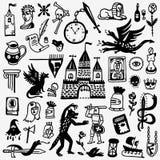History , fairy tale - cartoons set Stock Images