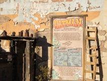 Historic ghost town, Oatman Arizona. History of the gold rush town of Oatman, Arizona Royalty Free Stock Image