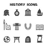 History icons Royalty Free Stock Photography