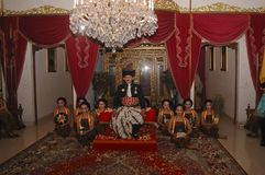 HISTORY OF JAVANESE EMPIRE. The Throne Anniversary ceremony of Javanese Nobility of Surakarta, one of successor state of Mataram Kingdom of Java, pictured in Royalty Free Stock Photography