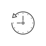 History line icon, time outline  logo illustration, linear Royalty Free Stock Photos