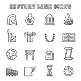 History line icons Stock Photography