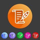 History list feather icon flat web sign symbol logo label Stock Photo
