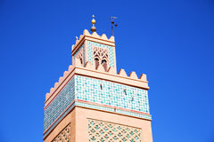 History in maroc africa  and the blue     sky Stock Images