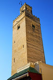 The history in maroc africa  minaret  blue    sky Royalty Free Stock Photo