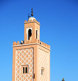 History in maroc africa minaret and the blue    sky Royalty Free Stock Photography