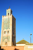History   maroc africa  minaret street lamp. In maroc africa      minaret  and the blue     sky Royalty Free Stock Photography