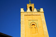 History in maroc africa   religion and the blue     sky Stock Image