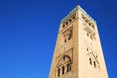 History   maroc   minaret religion and  blue     sky Stock Image