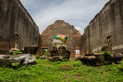 The history monument in the great Narai palace at Lopburi, Thailand. Royalty Free Stock Photography