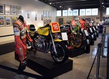 History of Motorsport display showcases the beginning of Motor sport royalty free stock photo