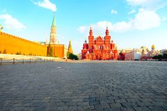 History Museum. View Of The Red Square With History Museum Royalty Free Stock Image