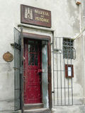 History museum entrance. In Sighisoara, Romania Stock Images