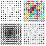100 history museum icons set vector variant. 100 history museum icons set vector in 4 variant for any web design isolated on white stock illustration