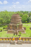 History Old Temple Ayutthaya province. Royalty Free Stock Photo