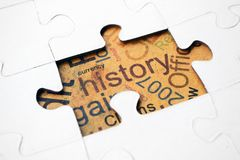 History puzzle concept Stock Photography