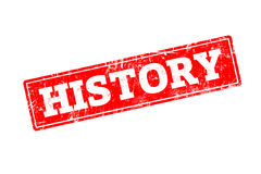 History. Red rubber stamp with grunge edges Royalty Free Stock Photography