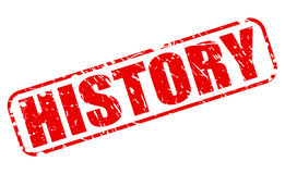 History red stamp text Royalty Free Stock Photography