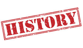 History red stamp Royalty Free Stock Image