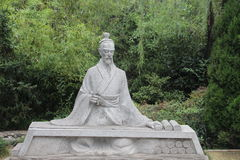History sage - Sima Qian sculpture Royalty Free Stock Photo