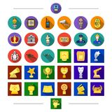 History, security, and other web icon in cartoon style. Prize, gift, award, icons in set collection. Stock Image