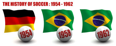 The History of Soccer 1954-1962 Royalty Free Stock Images