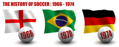 The History of Soccer 1966-1974 Stock Photos