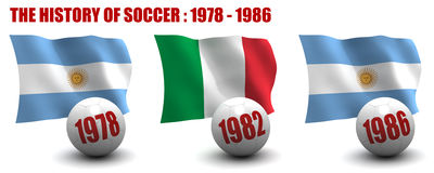 The History of Soccer 1978-1986 Royalty Free Stock Photography