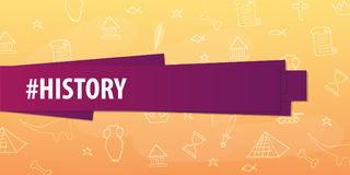 History subject. Back to School background. Education banner. Royalty Free Stock Photos