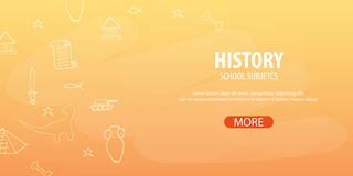 History subject. Back to School background. Education banner. History subject. Back to School background. Education banner Stock Photos