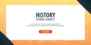 History subject. Back to School background. Education banner. History subject. Back to School background. Education banner Stock Images