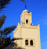 The history  symbol  in morocco  africa  minaret religion and Stock Photo