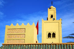 The history  symbol  in morocco  green roof tile red flag Royalty Free Stock Image
