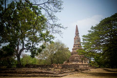 History temples. Temples in Ayutaya historic buildings and old town Royalty Free Stock Photo