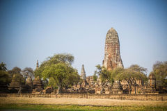 History temples. Temples in Ayutaya historic buildings and old town Royalty Free Stock Images