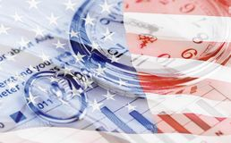 History. Time Finance Business Currency Stock Market Chart Stock Image